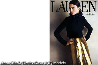 Anna-Maria Urajevskaya for Ralph Lauren campaign