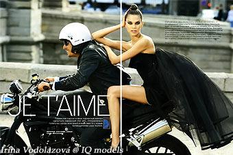 Irina Vodolazova for Marie Claire Russia, Oct 08
