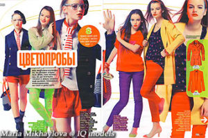 Maria Mikhaylova for Liza Girl Russia