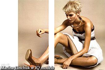 Marina Linchuk for Numero Tokyo #9 Dec. 2007