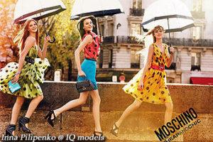 Inna Pilipenko Campaign for Moschino