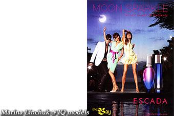 Marina Linchuk Campaign for Escada Moon Sparkle