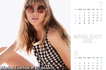 Marina Linchuk for Natural Beauty Basic campaign