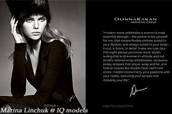 Marina Linchuk for Donna Karan campaign