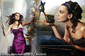 Olesya Senchenko for Neiman Markus catalogue