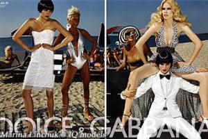 Marina Linchuk for Dolce & Gabbana campaign