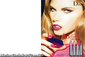 Marina Linchuk for Dior Addict campaign
