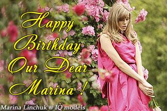 Marina Linchuk catalogue for Miss Dior