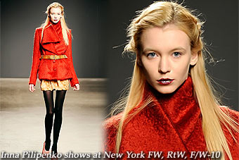 Inna Pilipenko at New York FW, RtW, F/W-10
