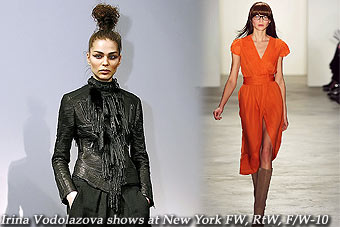 Irina Vodolazova at New York FW, RtW, F/W-10