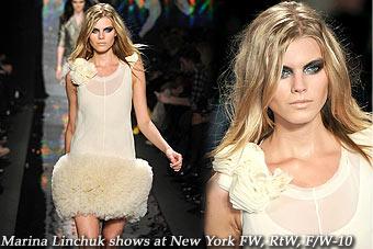 Marina Linchuk at New York FW, RtW, F/W-10