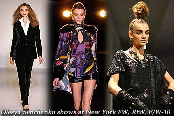 Olesya Senchenko at New York FW, RtW, F/W-10