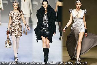 Irina Vodolazova at Milan FW, RtW, F/W-10
