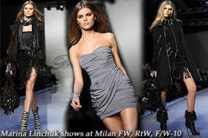 Marina Linchuk at Milan FW, RtW, F/W-10