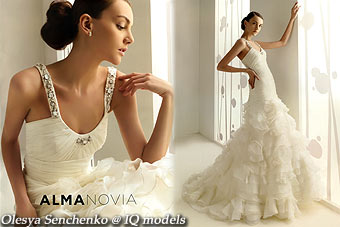 Olesya Senchenko catalogue for Alma Novia 2010
