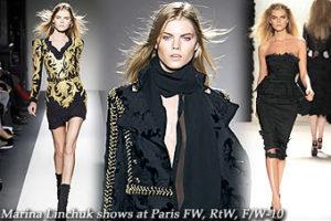Marina Linchuk at Paris Fashion Week, RtW, F/W-10