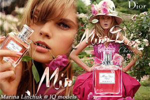 Marina Linchuk campaign for Miss Dior Cherie