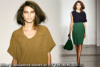Irina Vodolazova shows at New York FW,RtW,S/S-11