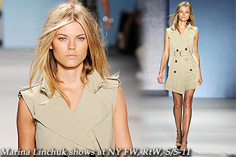 Marina Linchuk shows at New York FW, RtW, S/S-11