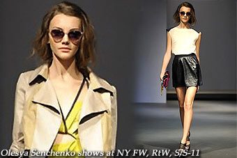 Olesya Senchenko shows at New York FW,RtW,S/S-11
