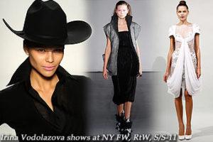 Irina Vodolazova shows at New York FW,RtW,S/S-11
