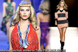 Marina Linchuk shows at Paris FW, RtW, S/S-11