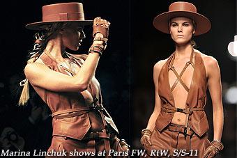 Marina Linchuk shows at Paris FW, RtW, S/S-11