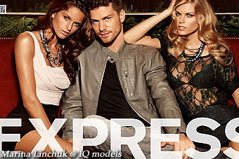 Marina Linchuk campaign for EXPRESS