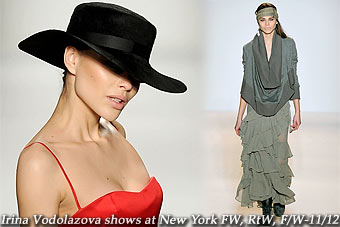 Irina Vodolazova at New York FW, RtW, F/W-11/12