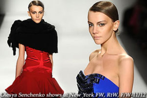Olesya Senchenko at New York FW, RtW, F/W-11/12