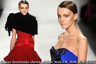 Olesya Senchenko at New York FW, RtW, F/W-11/12