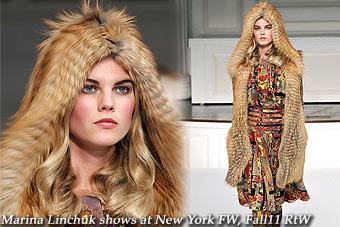 Marina Linchuk at New York FW, Fall11 RtW