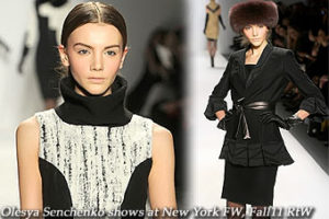 Olesya Senchenko at New York FW, Fall11 RtW