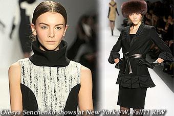 Olesya Senchenko at New York FW, Fall11 RtW