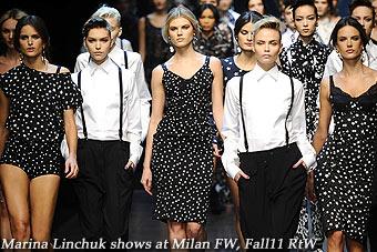 Marina Linchuk at Milan FW, Fall11 RtW