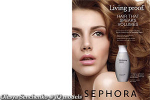 Olesya Senchenko Campaign for Sephora Shampoo