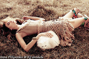 Inna Pilipenko for Glamour Italia, April 2011