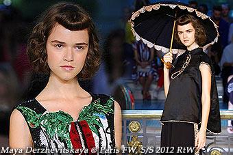 Maya Derzhevitskaya at Paris Fashion Week S/S-12