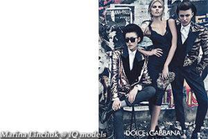 Marina Linchuk for Dolce&Gabanna campaign