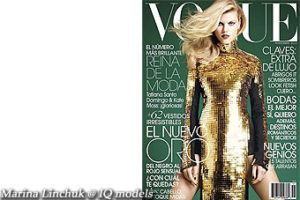 Marina Linchuk cover for Vogue Mexico, Nov 2011