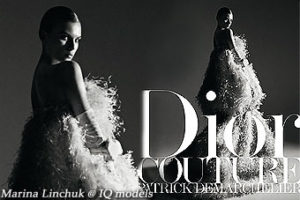 "Marina Linchuk cover of ""Dior Couture Book"""
