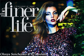 Olesya Senchenko cover for The Finer Life, Dec11