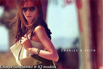 Olesya Senchenko for Charles & Keith catalogue