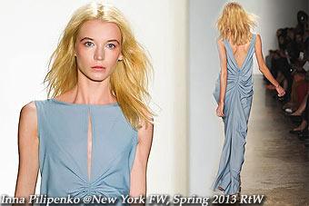 Inna Pilipenko at New York FW Spring 2013