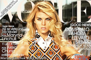Marina Linchuk cover for Vogue Spain, Sep 2012