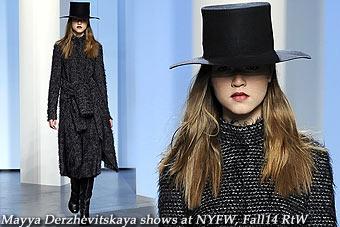 Mayya Derzhevitskaya at New York FW Fall 2014