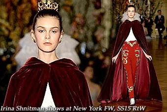 Irina Shnitman at New York FW SS 2015