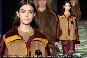 Irina Shnitman at New York FW Fall 2015