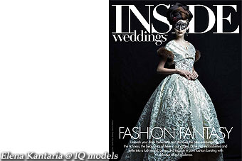 Elena Kantaria cover for Inside Weddings