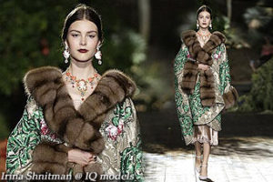 Irina Shnitman at D&G Haute Couture show